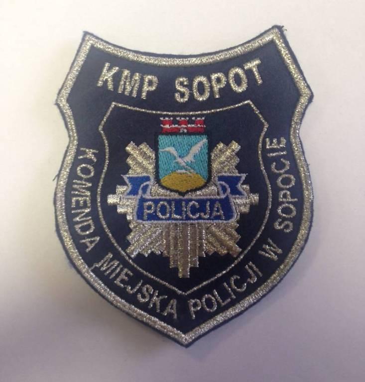 POLICJA Naszywka KOMENDA MIEJSKA POLICJI W SOPOCIE