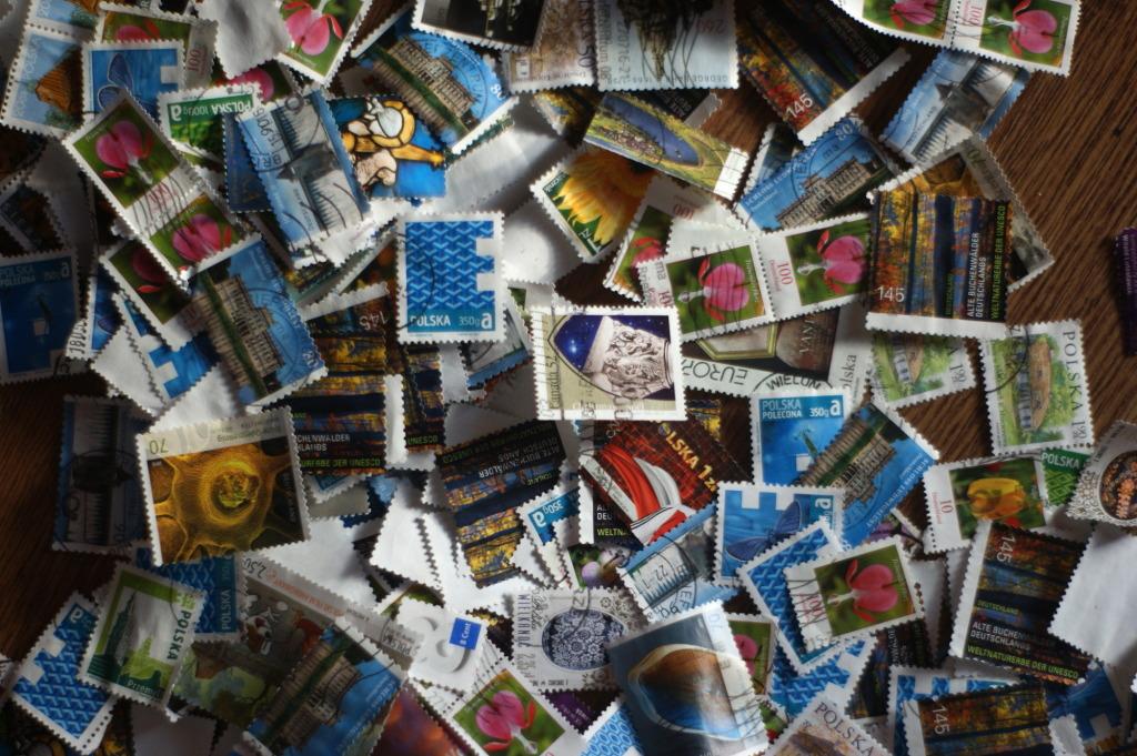znaczki pocztowe - wielki zbiór znaczków - różne