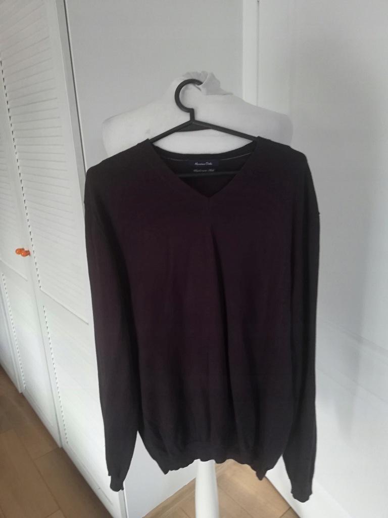 Sweter fiolet massimo dutti 20 kaszmir 20 jedwab L