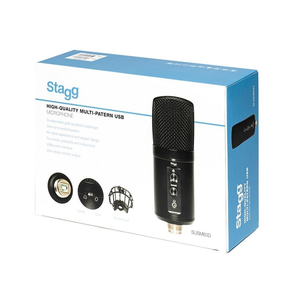 Mikrofon studyjny Stagg pojemnościowy SUSM60D USB