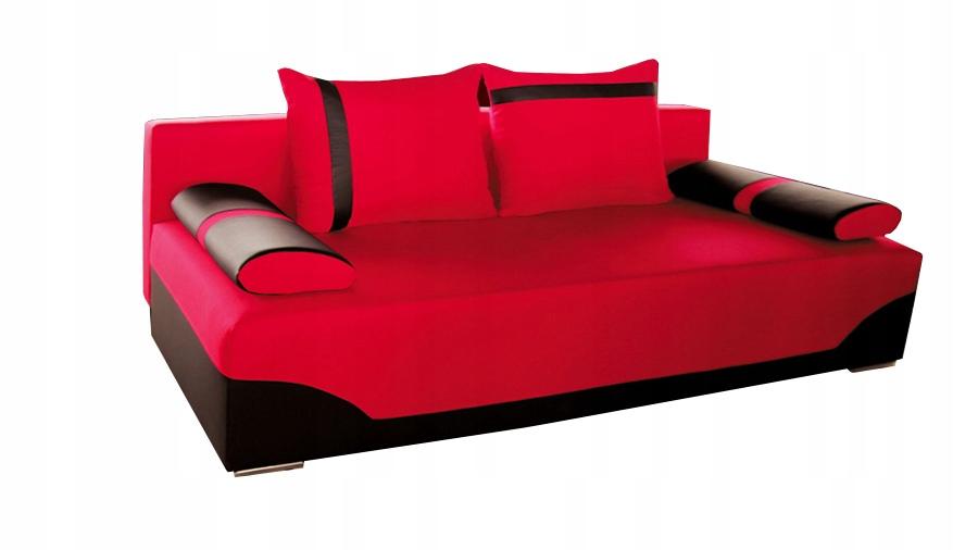Kanapa VALLO rozkładana sofa czerwona łóżko RIBES