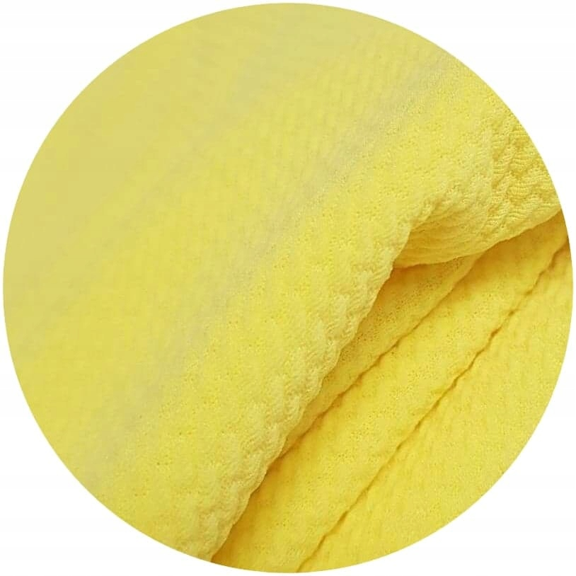 gofer cytrynowa dzianina poliestrowa elastyczna