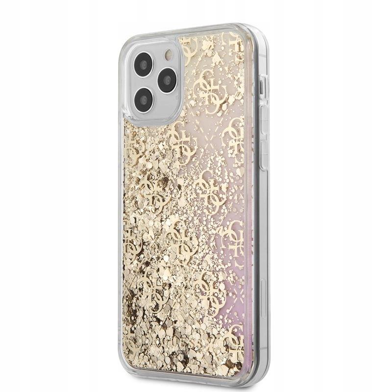 Guess 4G Liquid Glitter - Etui iPhone 12 / iPhone