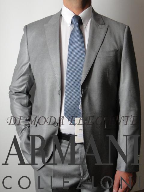 Garnitur ARMANI 48 nowy, szary ITALY OKAZJA ! BCM!