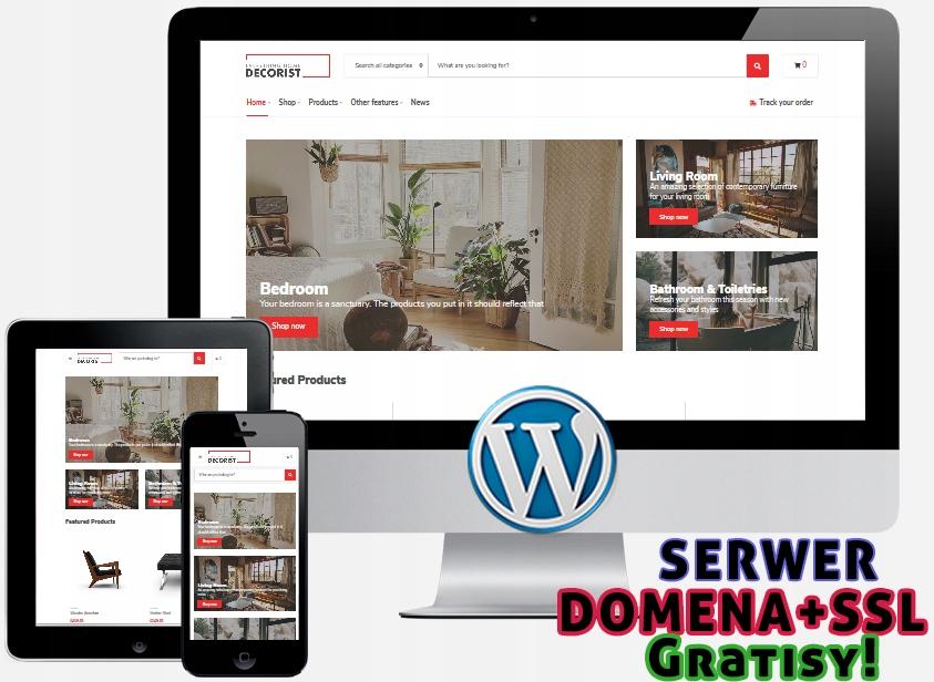 Strona WWW, Serwer, Domena+SSL, RODO + GRATISY