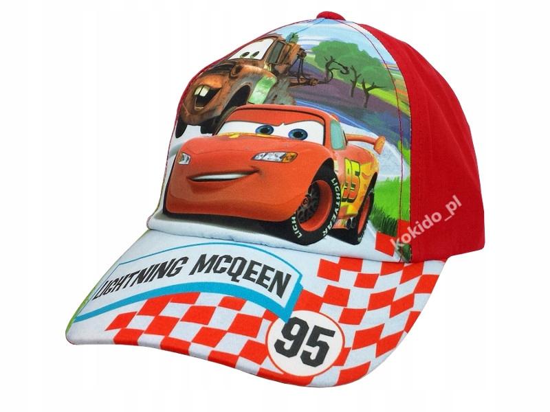 Czapka z daszkiem AUTA CARS Disney 54 czerwona wz1