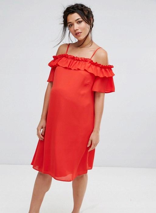 AG B906 QUEEN BEE czerwona sukienka ciążowa 36 A03