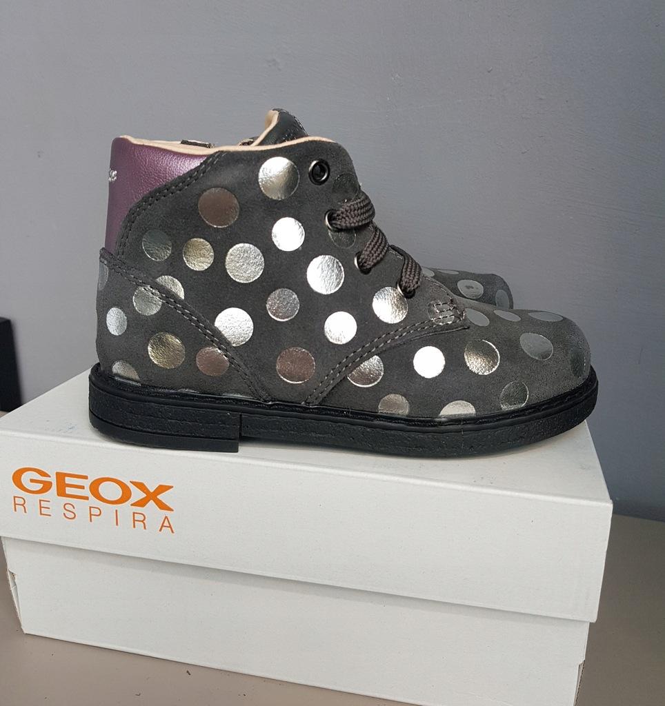 nowe buty skorzane dziewczęce geox glimmer 26 16.5