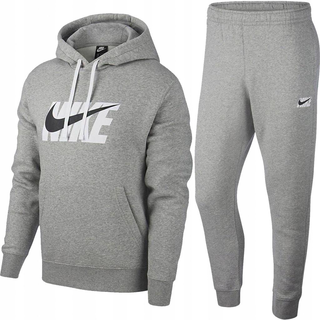 Nike męski sportowy dres komplet szary oryginał S