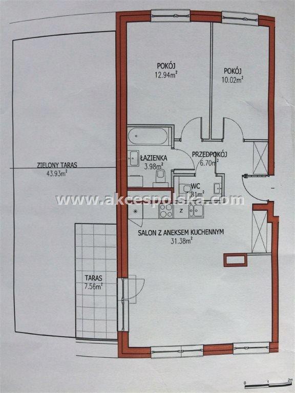 Mieszkanie Wyględów, Mokotów, 66,83 m²