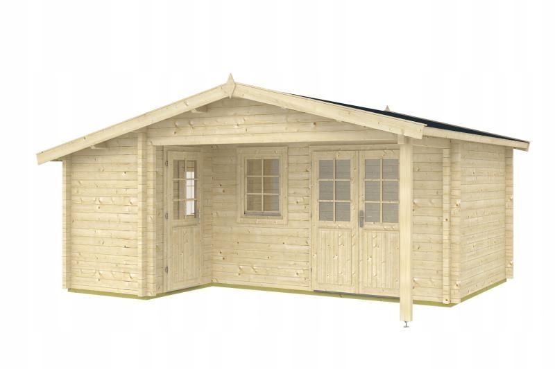 Drewniany domek na działkę - PIECUSZEK 530x445