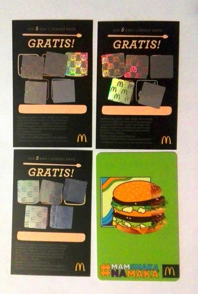 Kupony na kawę do McDonald`s. 16 + 1 GRATIS !!!!!