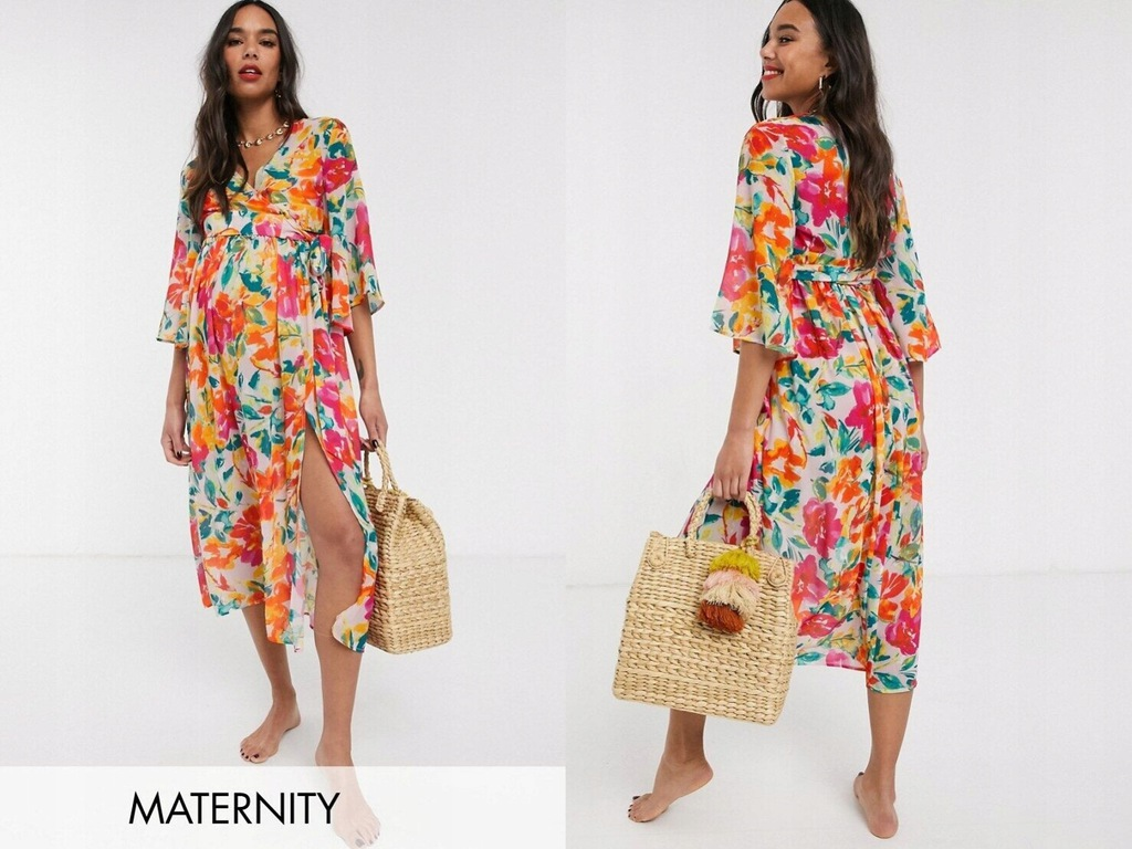 Unique 21 Maternity Marszczona spódnica maxi L/40