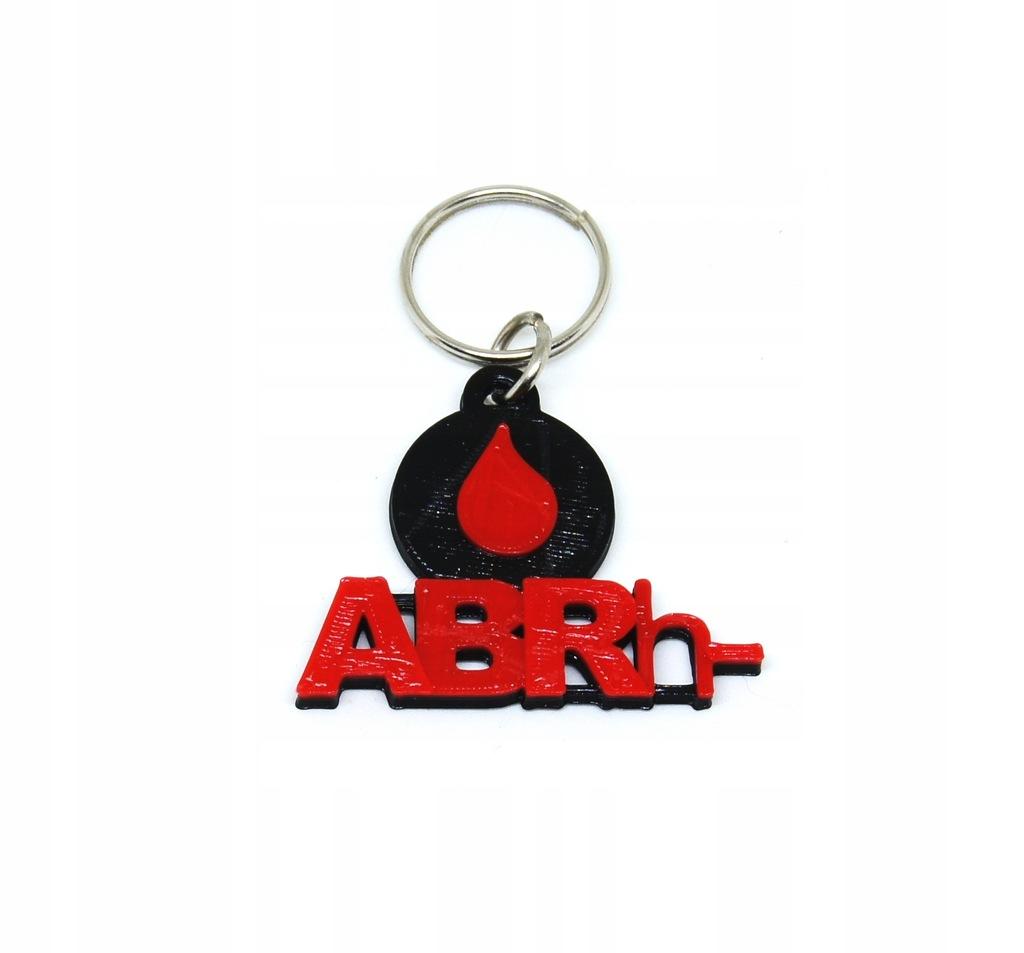 Brelok GRUPA KRWI ABRh- zawieszka breloczek krew