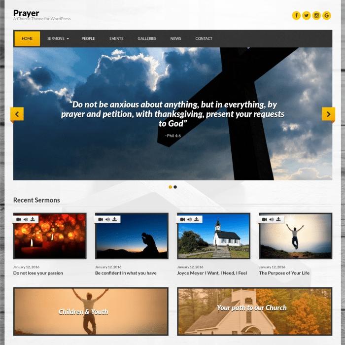 Szablon Prayer Church WordPress Theme