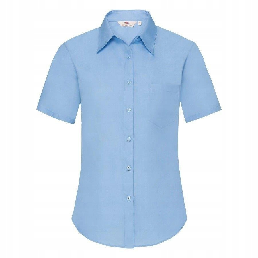 DAMSKA koszula FRUIT kr.rękaw POPLIN błękitna S