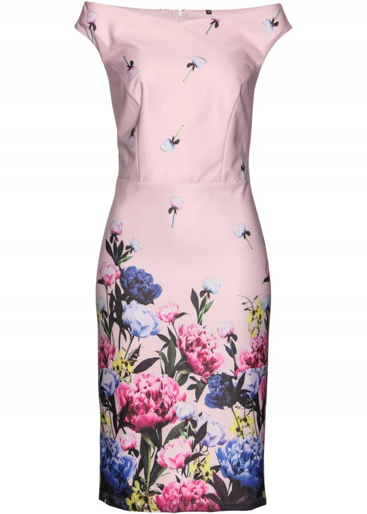 kNW1050 NOWA BONPRIX prosta sukienka w kwiaty 48