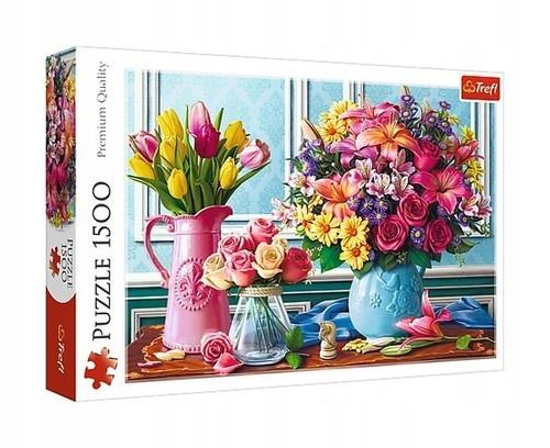Puzzle Kwiaty w wazonach 1500