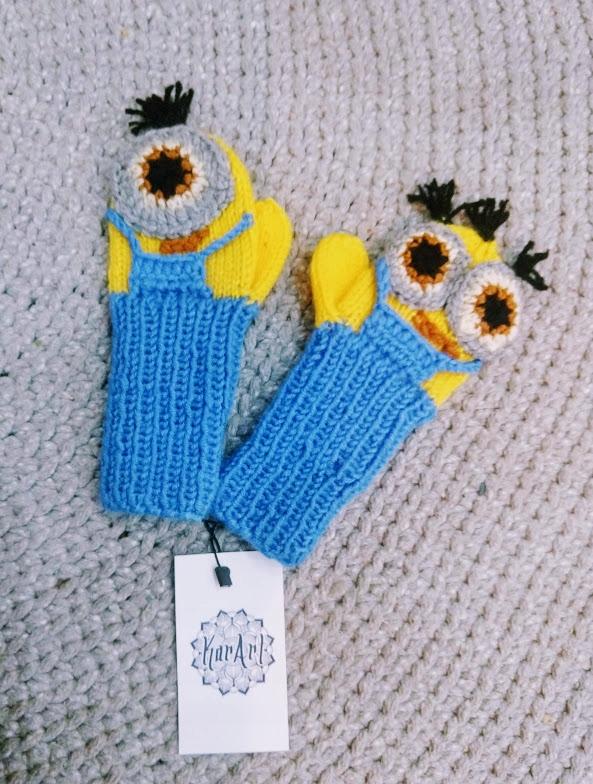 Rękawiczki minionki dla dziecka made in Poland