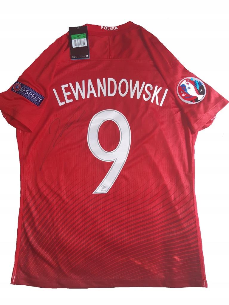 Koszulka Polska Euro 2016 Lewandowski Z Autografem 8824599465 Oficjalne Archiwum Allegro
