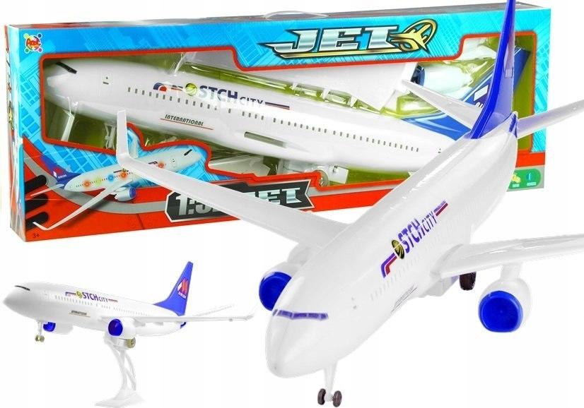 Duży Samolot Pasażerski 1:52 Napęd Światła 78 cm