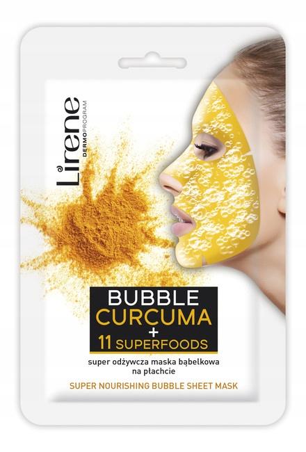 Lirene Bubble Curcuma Maska bąbelkowa 10 g