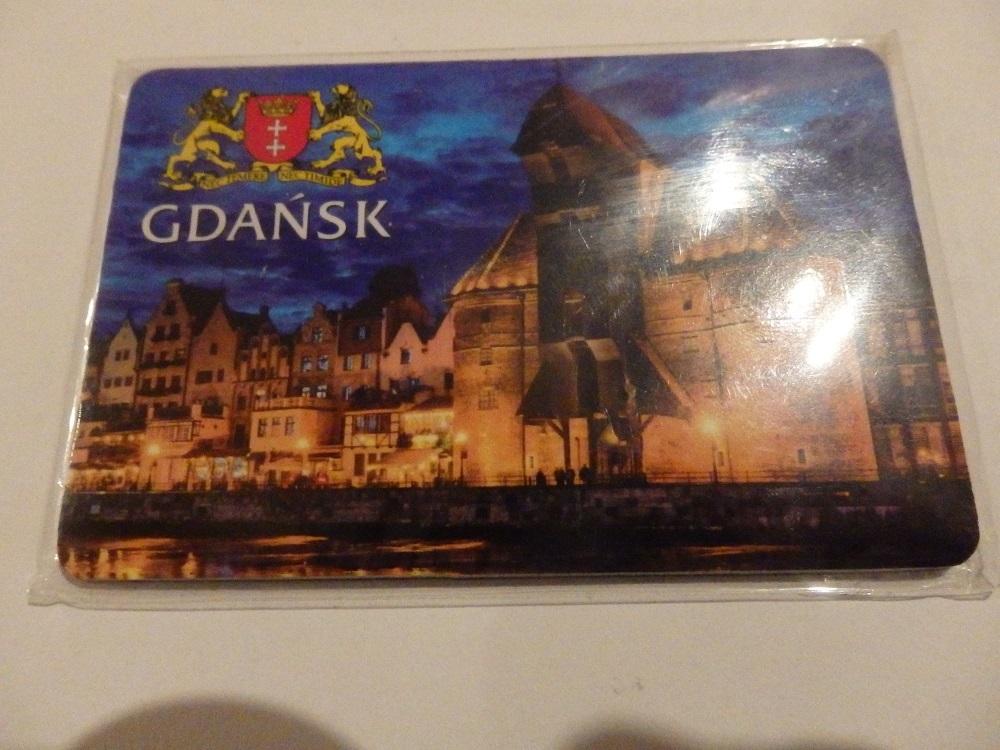Magnes na lodówkę  - Gdańsk w folii