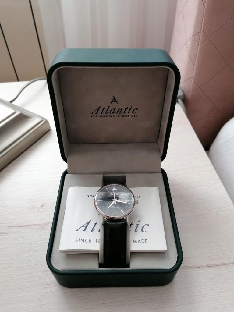 Zegarek męski Atlantic 50340 ze skórzanym paskiem