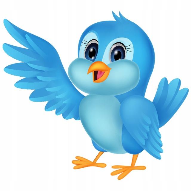 NAKLEJKA NA SCIANE KOLOR Błękitny ptak 10x10