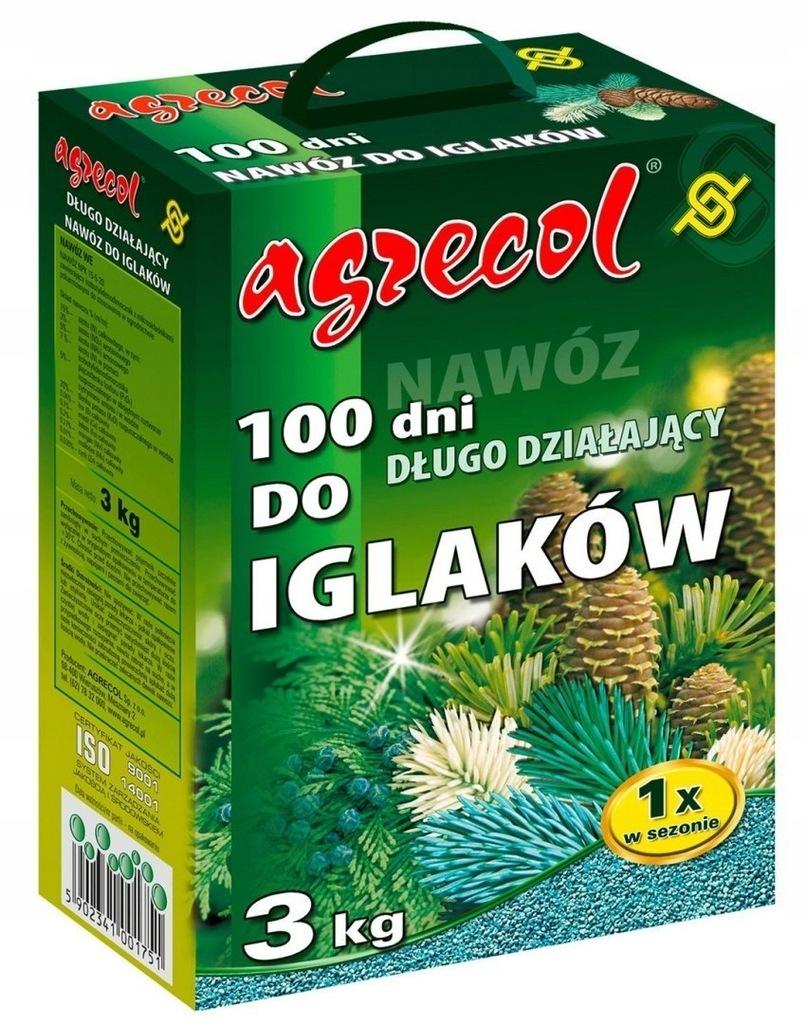 Nawóz do Iglaków 100 dni 3kg Agrecol