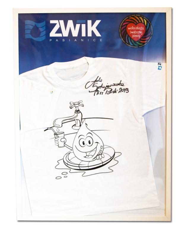 Koszulka z autografem Miss Polski 2013