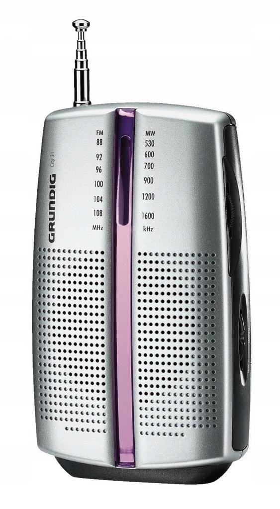 Grundig City 31 Mini Przenośne radio FM/MW CHROM