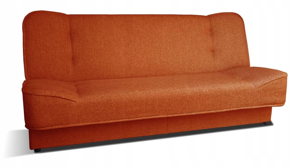 Kanapa WERA wersalka łóżko sofa pomarańczowa RIBES