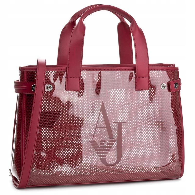 torba ARMANI JEANS torebka damska czerwona