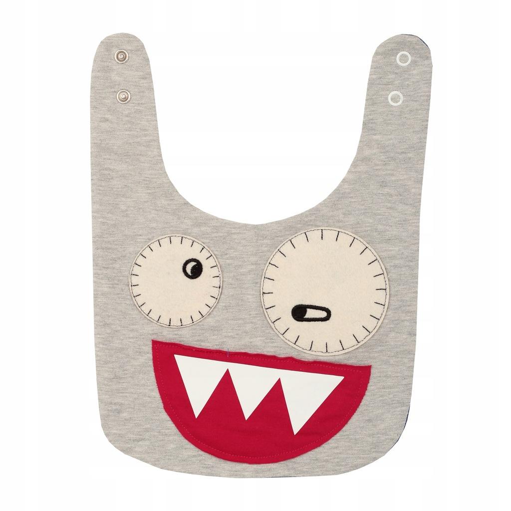 Zombie Dash Smiley Bib Grey