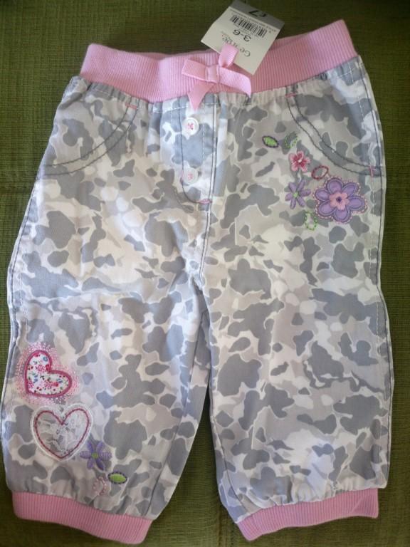 Spodnie 3-6 m-cy, nowe, z metką