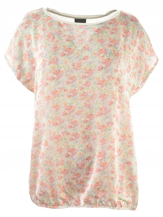 uAX0307 t-shirt w modnym kwiatowym wzorze 48