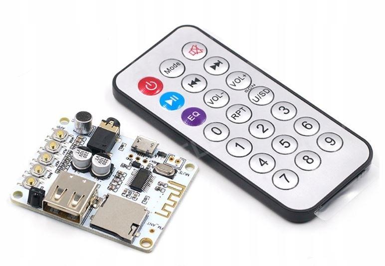 Moduł Bluetooth Audio micro USB, Jack3,5 FM, pilot