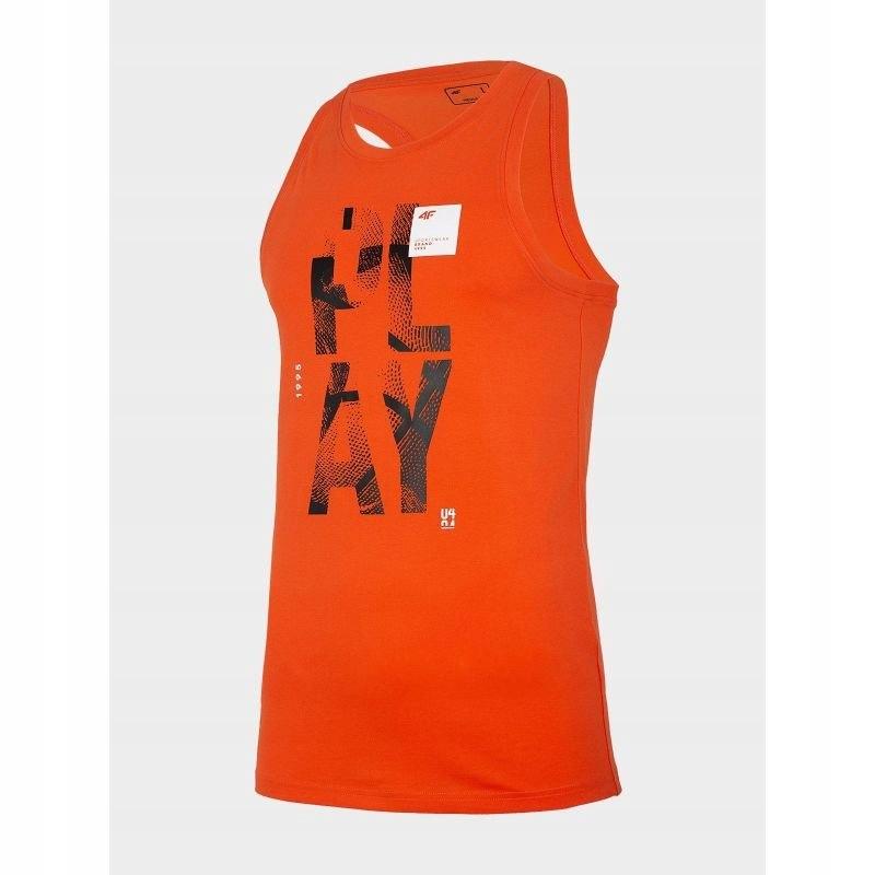 Koszulka 4F M H4L20-TSM026 Pomarańczowy