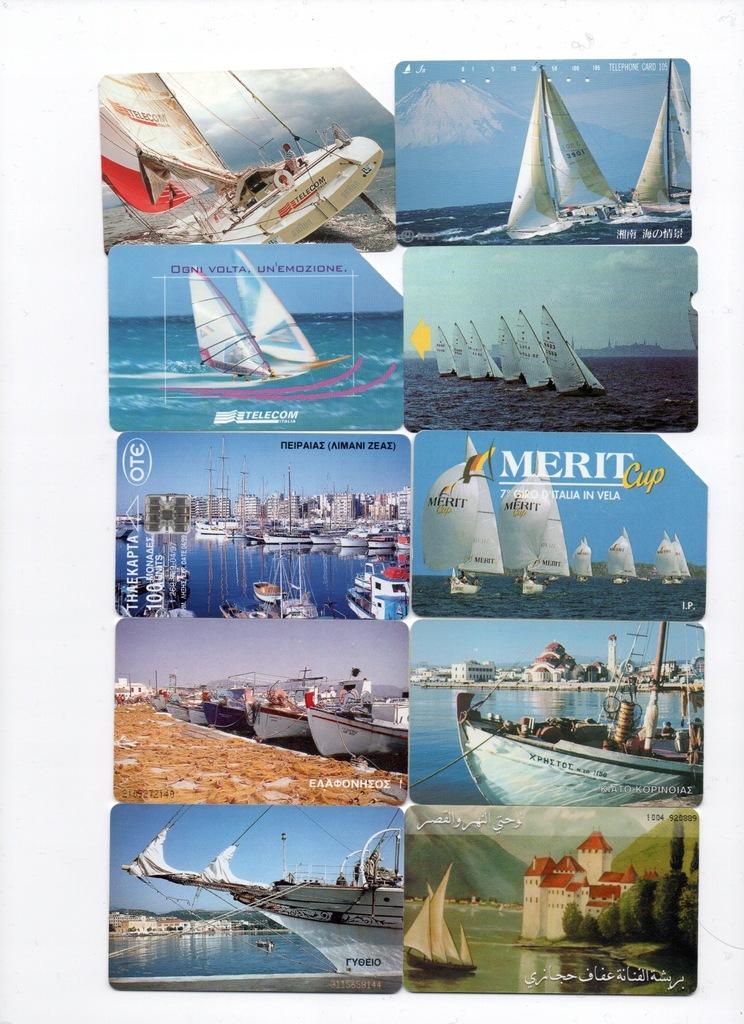 Karty zagraniczne-żaglówki,jachty
