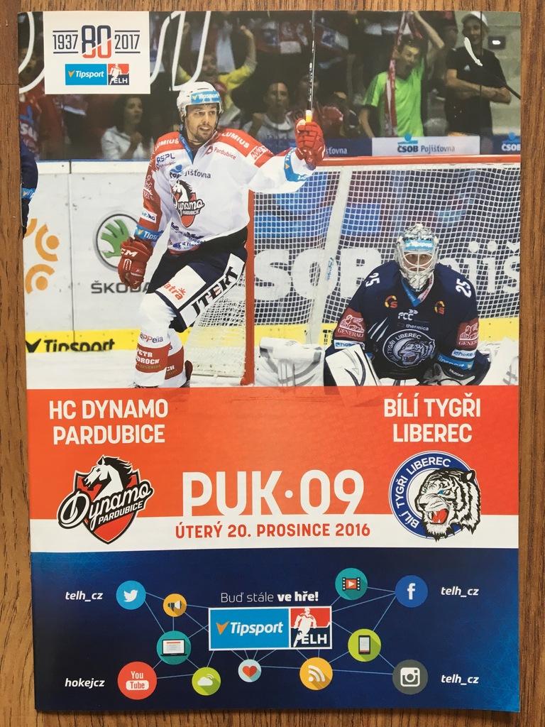 HC Dynamo Pardubice - Bili Tygri Liberec 20.12.16