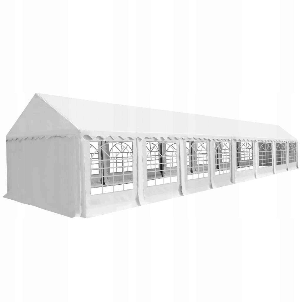 Namiot ogrodowy z PVC, 6 x 16 m, biały