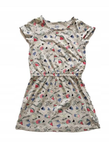 Sukienka w obrazki COOL CLUB 122 przepiękna WYGODA