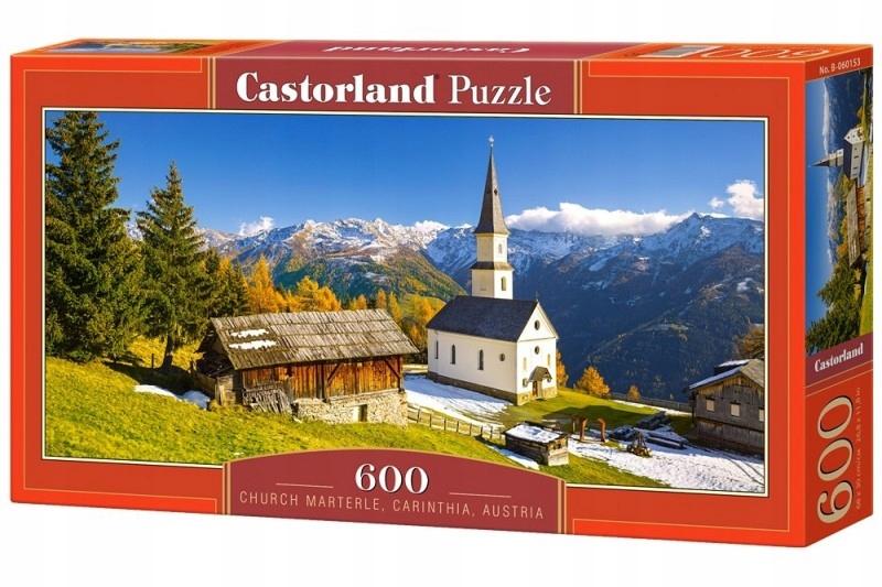 Puzzle 600 elementów, Kościół Marterle, Karyntia,