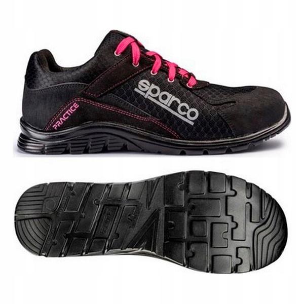 Safety Footwear Sparco Practice Czarny Różowy