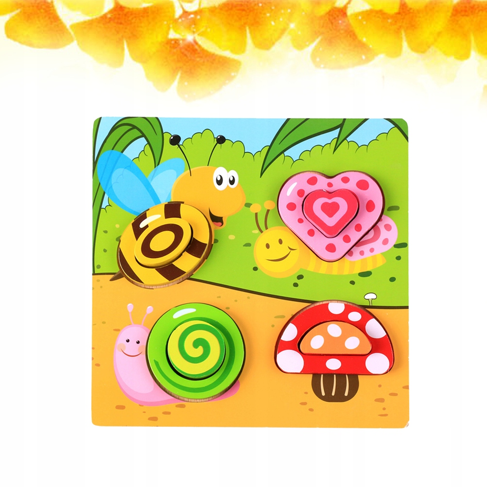 Wood Puzzle Toy Colorful Puzzle 0-1-2-3-6 Years Ol
