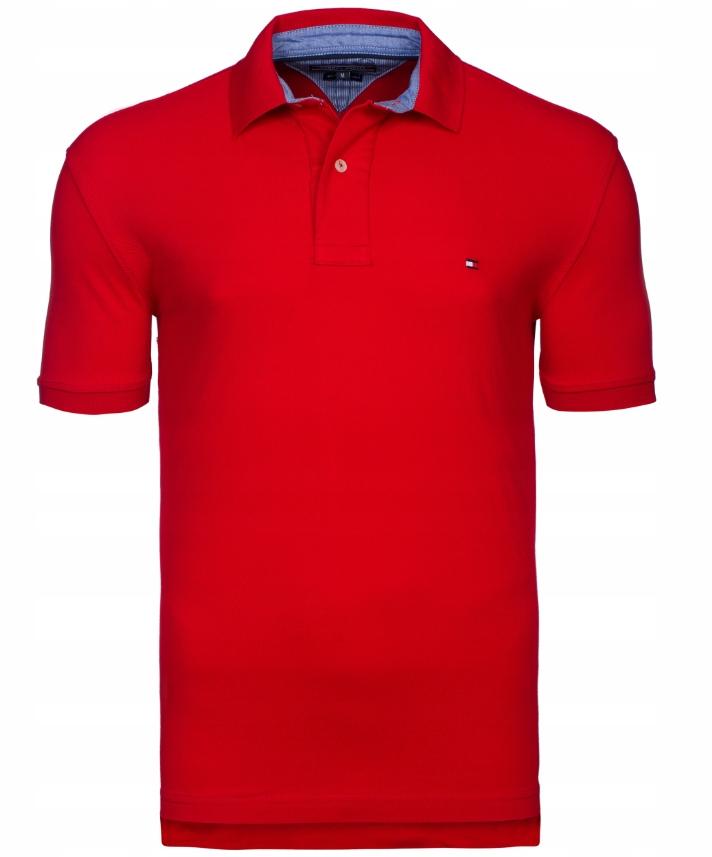 Koszulka Polo Tommy Hilfiger Czerwona Rozmiar XL