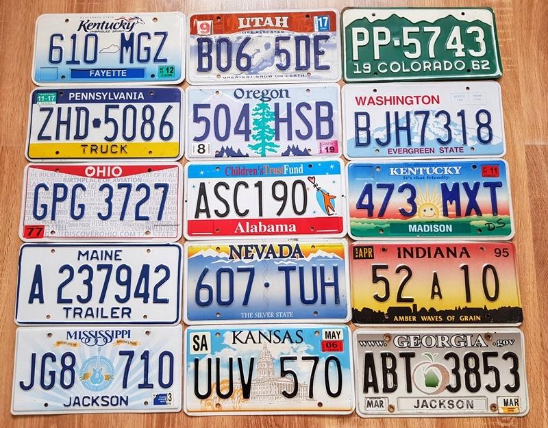 Tablice Rejestracyjne Z Usa 15 Szt P 8408744749 Oficjalne Archiwum Allegro