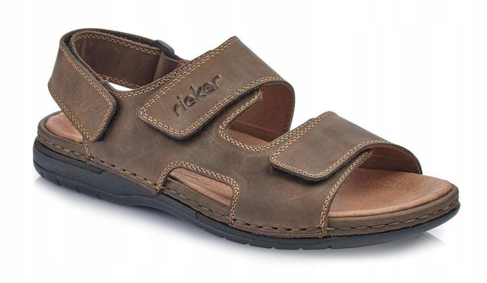Sandały męskie Rieker 25558-25 brązowe R. 42