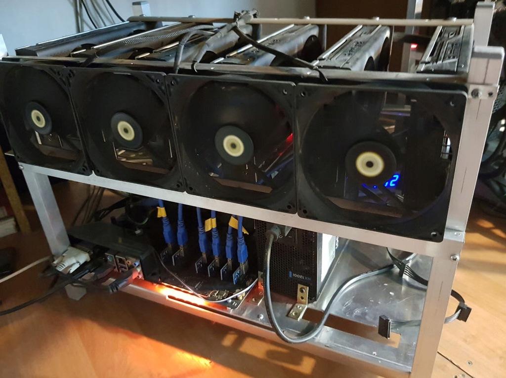 Koparka kryptowalut 6x RX470 8GB b.wydajna